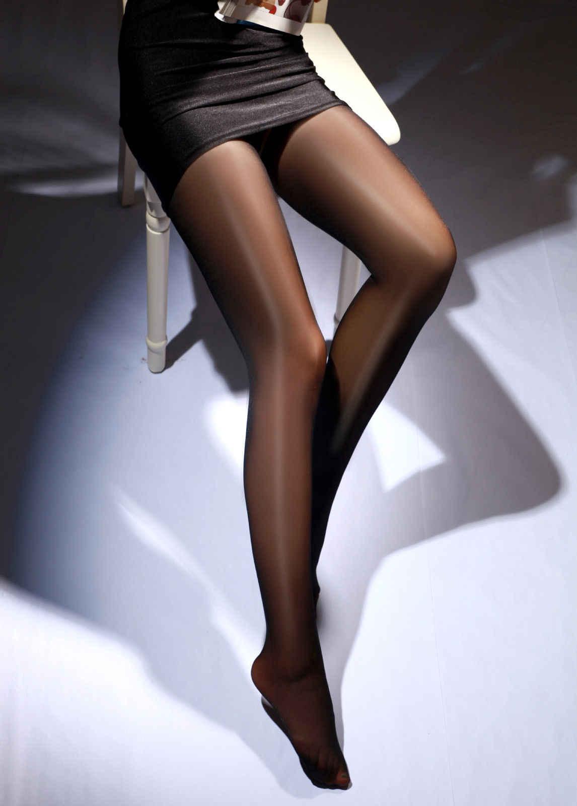 1 Pcs Sexy di Estate di Autunno della Molla Delle Donne Traspirante A Vita Alta Sexy Olio Lustro Lucido Collant Calzamaglie 7 Colori