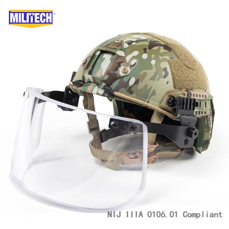 Schutzhelm Sicherheit & Schutz Militech Mc Deluxe Nij Iiia Schnelle Kugelsichere Helm Und Visier Set Deal Multicam Camo Ballistischen Helm Kugelsichere Helm Maske Fein Verarbeitet