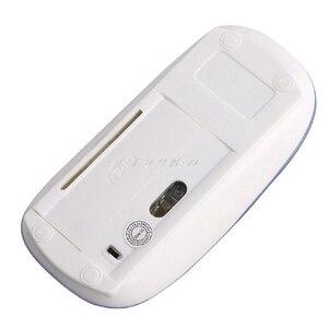 Image 2 - 素敵なデザイン 2.4 ghz ワイヤレス超薄型光学式スクロールマウス/マウス + usb レシーバー pc のラップトップ