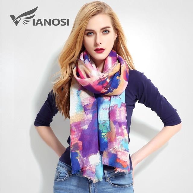 01b4a8b1278  VIANOSI  écharpe en coton marque de luxe châle grande taille Foulard Femme  mode Bandana