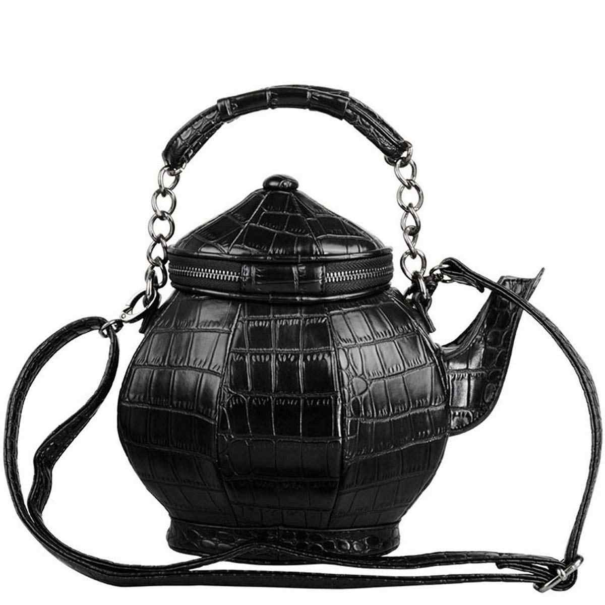 BEAU-Funny Gothic Purse Teapot Shaped Crossbody Handbag Top-Handle Tote Women'S Shoulder Bags