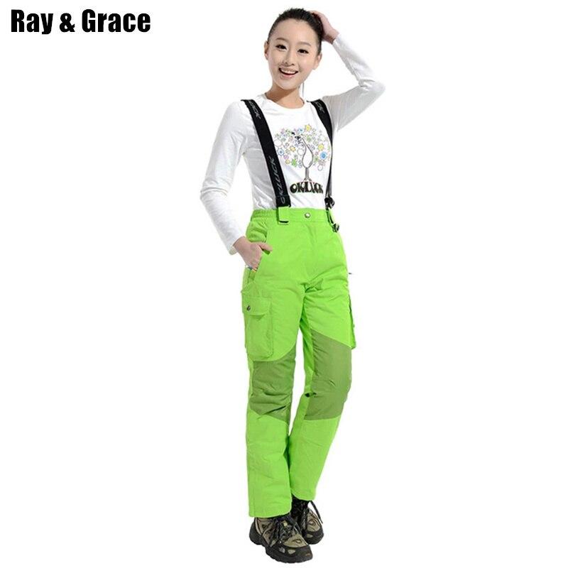 Pantalon hiver RAY GRACE Ski de montagne femme pantalon Ski de neige femme imperméable pantalon Snowboard femme
