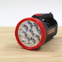 9 LED Rechargeable Lamp Super Bright Light Searchlights Household Outdoor Lighting Flashlight