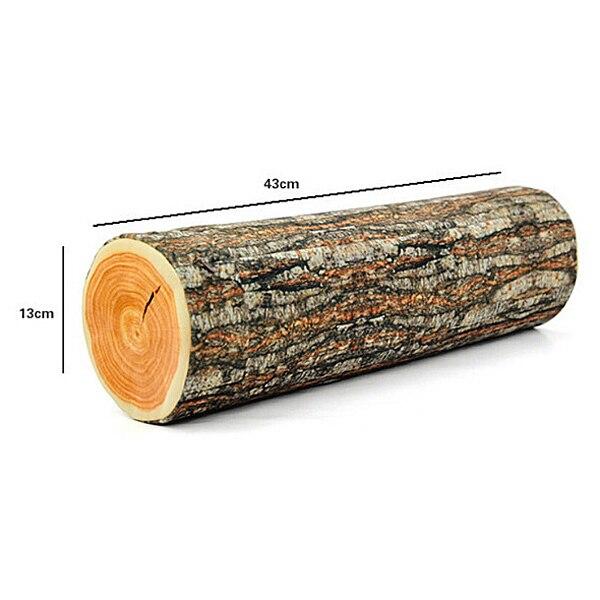 40x40cm Log Travel Pillow Novelty Households Green Pillow Wood Grain Stunning Cylindrical Decorative Pillows
