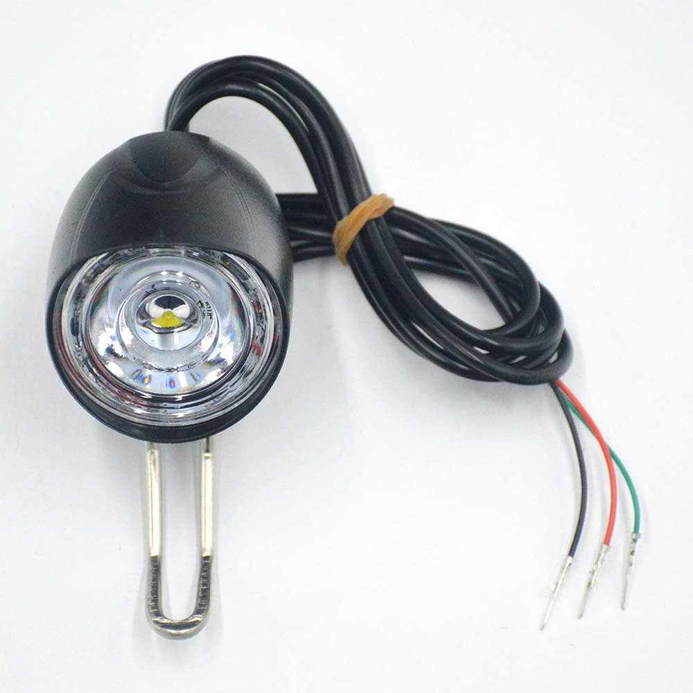 E Bike LED Light 36V 48V Bike Horn Waterproof Flashlight with Horn for Electric Bike 12W Headlight Front Light Waterproof