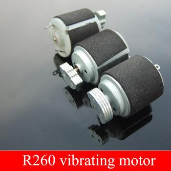 5 sztuk czarny 260 silnik wibracyjny silne wibracje dynamiczne koło R260 miniaturowy silnik wibracyjny DC 3-6V masażer ekscentryczny koła tanie i dobre opinie Mikro silnika 510mA Szczotka Przeciwwybuchowe Z magnesami trwałymi 3 6W Home appliance massage Vibration