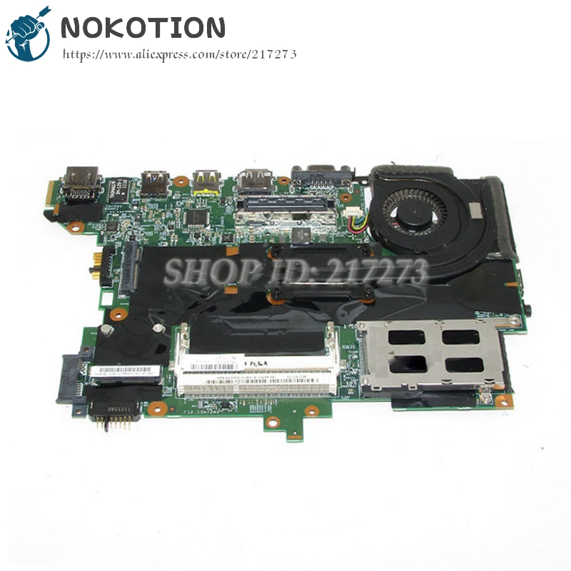NOKOTION FRU 63Y1725 Main Board For Lenovo Thinkpad T420S Laptop Motherboard H0223-4 48.4KF58.041 I5-2540M CPU onboard DDR3 nokotion for acer aspire 5750 laptop motherboard p5we0 la 6901p mainboard mbrcg02005 mb rcg02 005 mother board