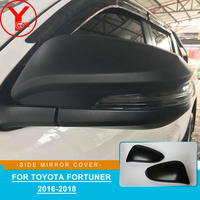 ABS black side rearview mirror cover for toyota rav4 2014-2017 hilux revo fortuner innova 2016 2017 2018 2019 accessories YCSUNZ