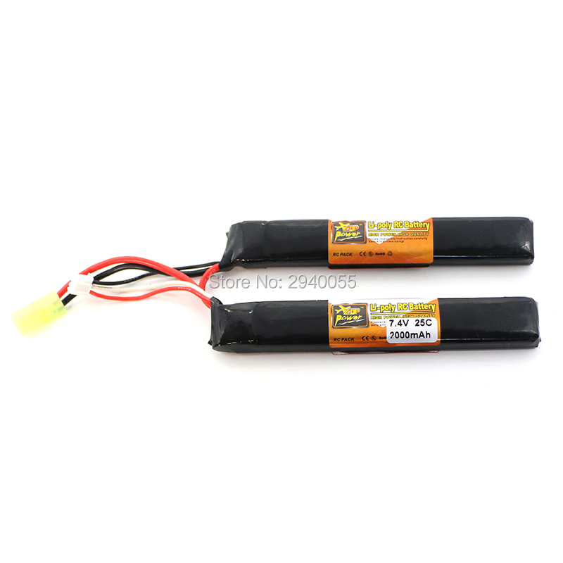 ZOP Lipo Battery 2S 7.4V 2000mah 25C AKKU Mini Airsoft Gun Battery RC model Tamiya connector 1s 2s 3s 4s 5s 6s 7s 8s lipo battery balance connector for rc model battery esc