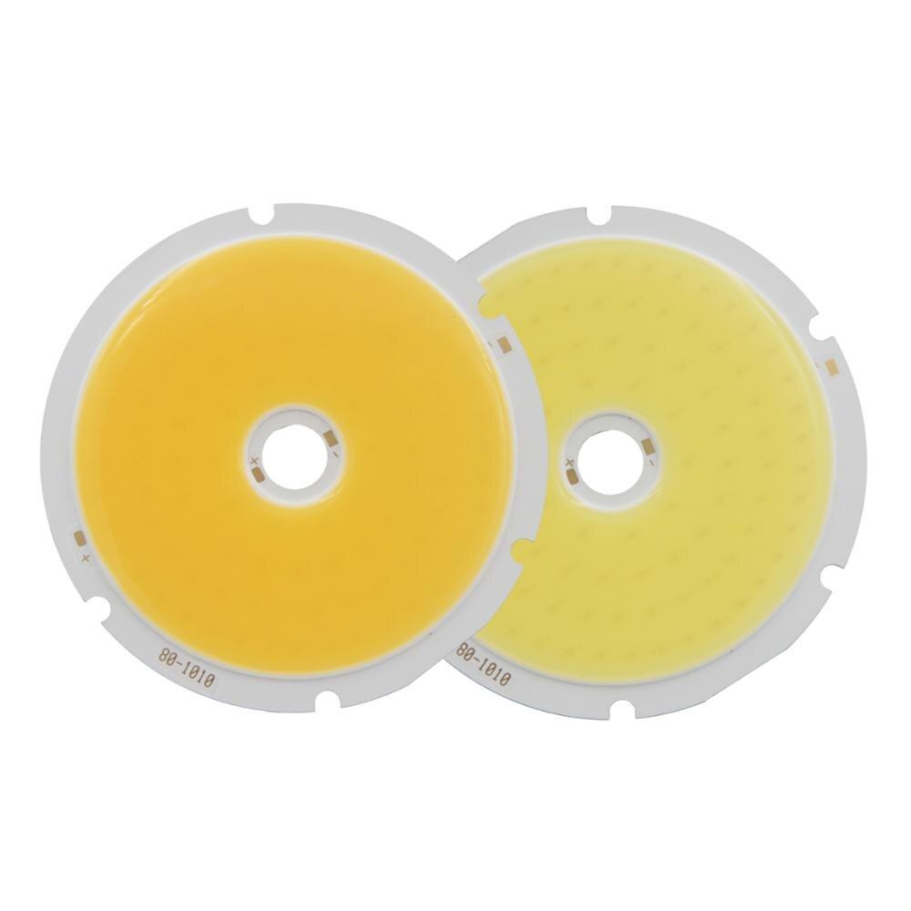 Купить с кэшбэком 10PCS 80mm Annular 50W allcob LED COB Light Source High Power White Warm White LED Strip Module Chip For Down Light DIY lamp