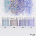 1Box 10ml Rainbow Glitter Super Matte Powder Nail Art Decorations