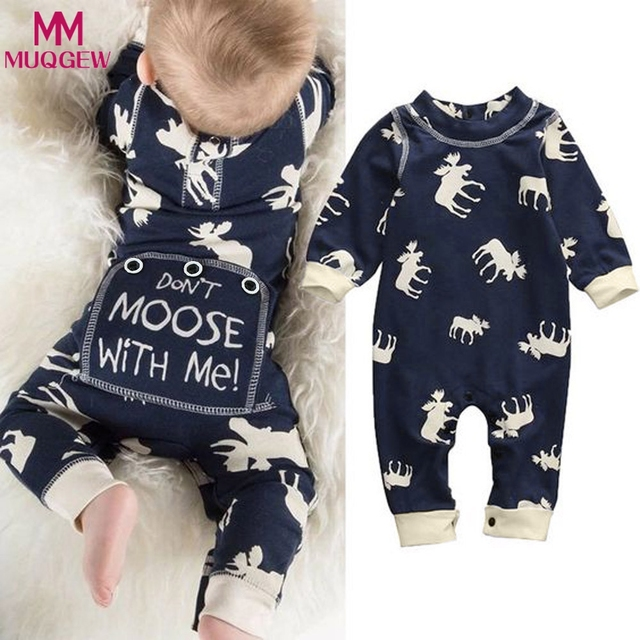 07996c108 2018 Newborn clothes baby clothing Girls Boys Jumpsuit Spring Autumn ...