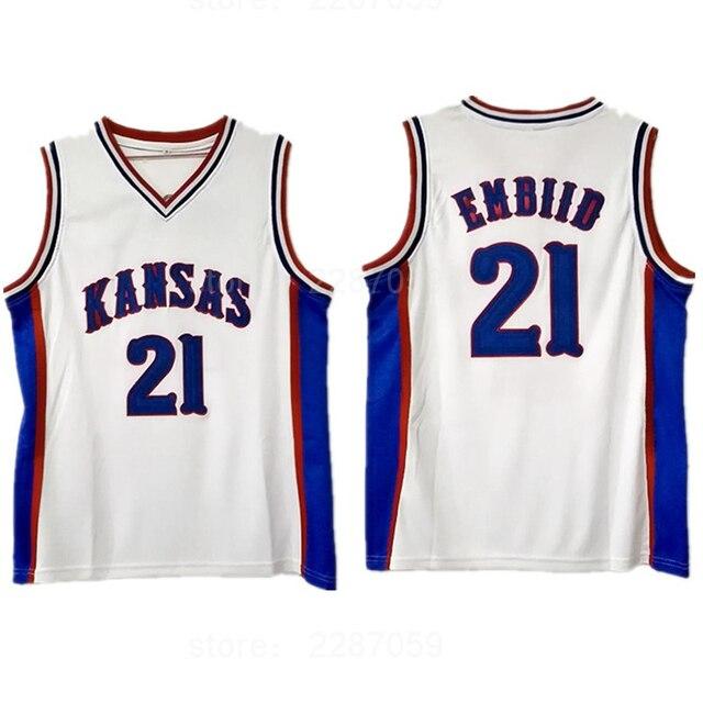 edd293955de ediwallen men college 21 joel embiid jersey blue white all stitched kansas  jayhawks basketball jerseys sale