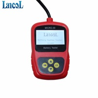 Motorcycle Battery Tester LCD Display 12V Scooter Battery Analyzer LANCO MICRO 30 Battery Measurement Unit