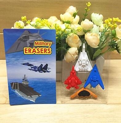 15 pieces per lot New Fight Plane Eraser Air Fighter Jet Eraser New Korean 3D Eraser with