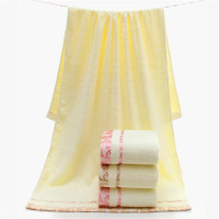 DelCaoFen Bath Towel Solid Thick Towel Quick Dry 70 140cm Towel Women Man Children Soft Beach