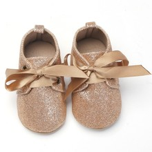 Infrant Baby Lace Bow Tie Baby Shoes Girl Boys First Walkers