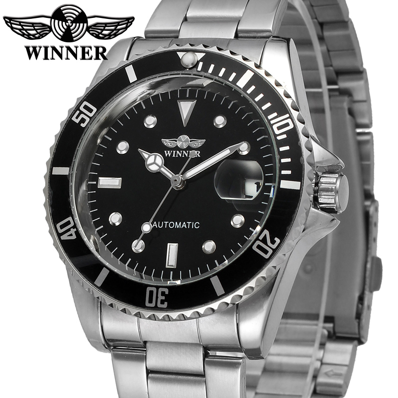 Winner Watch Men's Automatic Classic Bezel Dial Watches Mechanical Men Top Luxury Brand Watches Fashion Male Business Watch winner fashion men s automatic mechanical watches classic concise precision male wrist watches leather watch bands gift for men