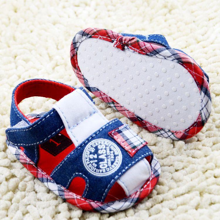 Nuevo Verano Zapatos de Bebé de la Buena Calidad Del Muchacho de Mezclilla Azul