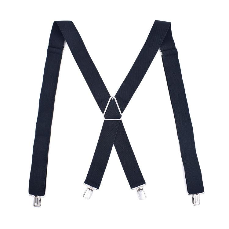 Fashion Black Corss 4 Clip Unisex Suspenders  Women Mens Braces For Trousers Elastic Belts Straps Braces Suspensor Para Hombre