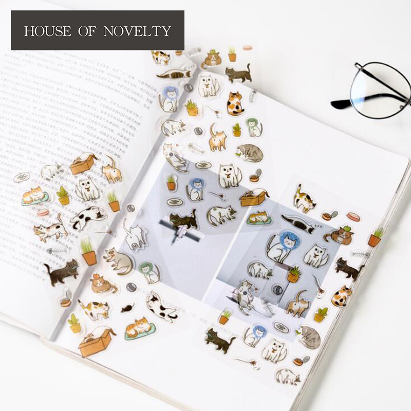 The Cat's 100 Kinds Of Life Stickers Adhesive Stickers DIY Decoration Stickers alive for all the things are nice stickers adhesive stickers diy decoration stickers