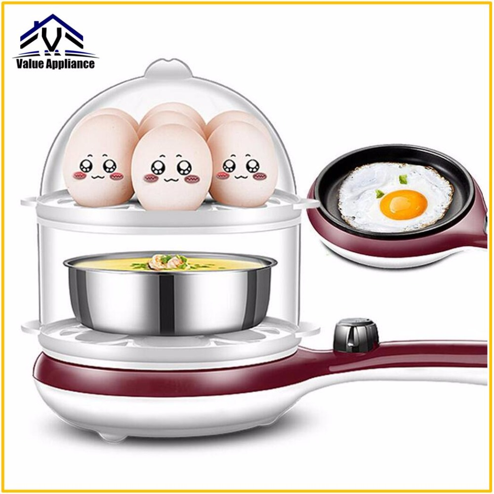 Generic 3 in 1 Multi-function Electric Egg Cooker up to 14 Eggs Boiler Steamer Fry Double layer Cooking Tools Kitchen Utensils generic medicines in iraq