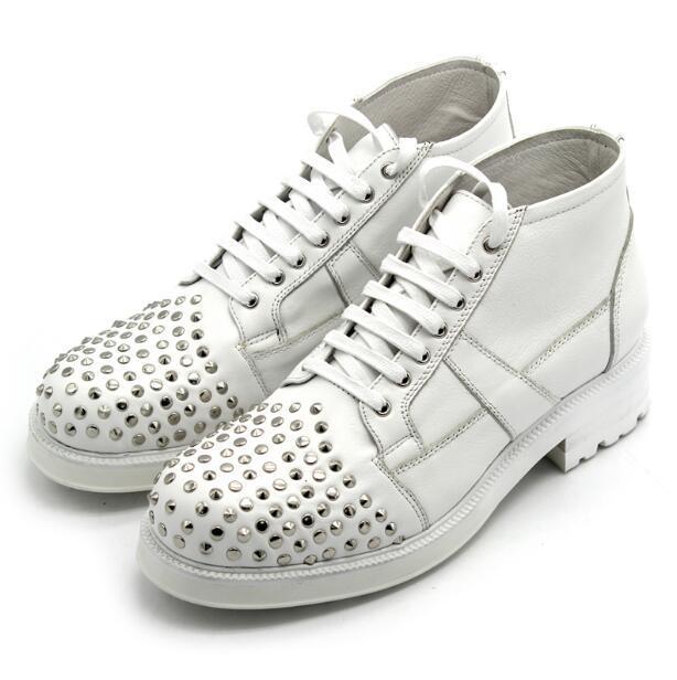 Британский стиль Джокер мужские ботинки заклепки толстой подошве белые сапоги большой головой на шнуровке Мужская обувь ручной работы