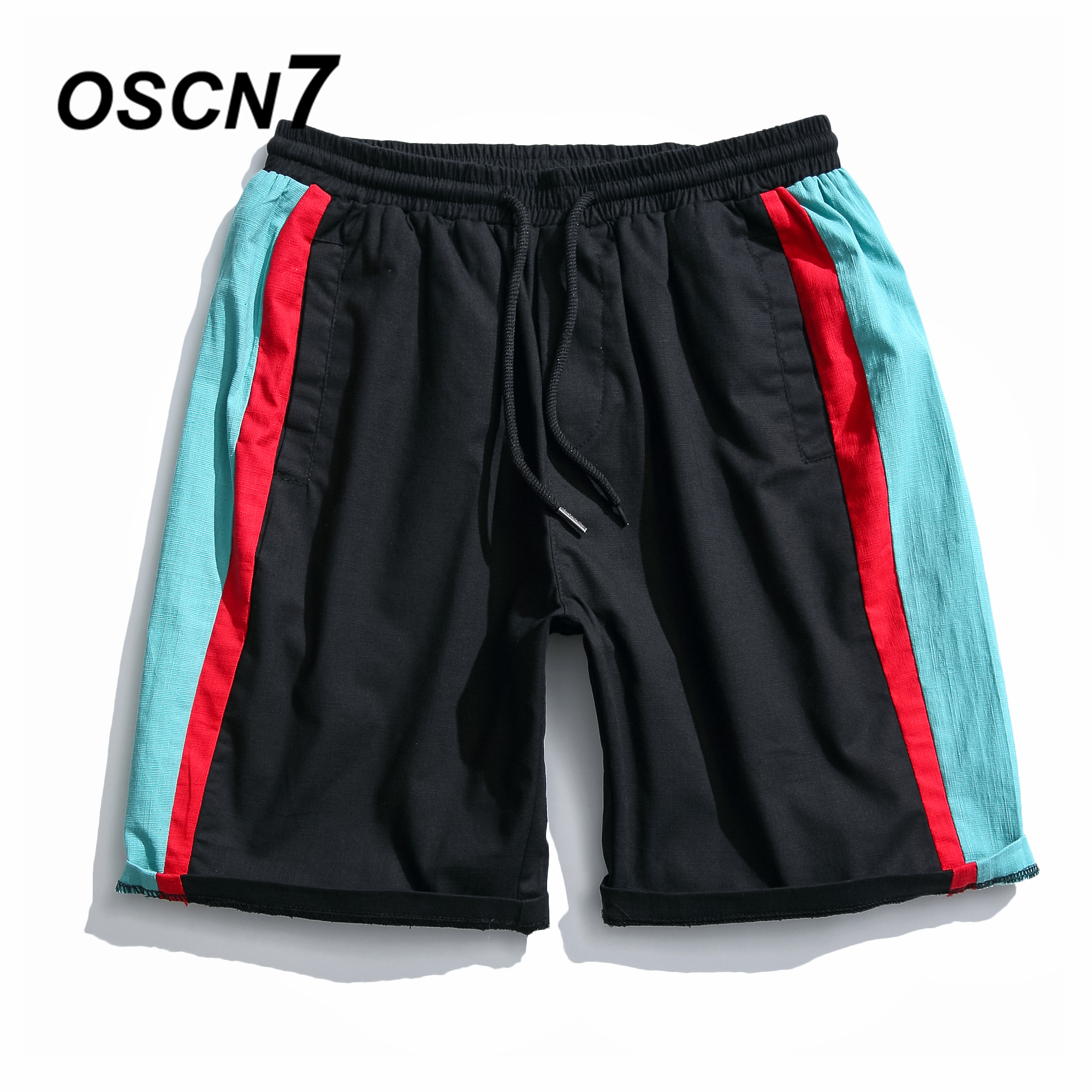 OSCN7 Harajuku Shorts Men Plus Size Casual Summer 2018 New Short Pants Leisure Mens Shorts K8172