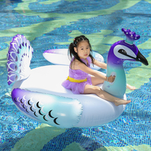 60 Inch 1.5M Inflatable Giant Peacock Pool Float Swimming Pool Lake Beach Party Floating Boat Adult Water Toys Boias Piscina 60 inch 1 5m giant inflatable swan pool float ride on swan pool swimming ring holiday party water fun toys islands boias piscina