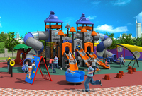 CE ISO TUV Exporting School Playground Structure Big Children Plastic Slide Kids Qualitied Outdoor Play Equipment