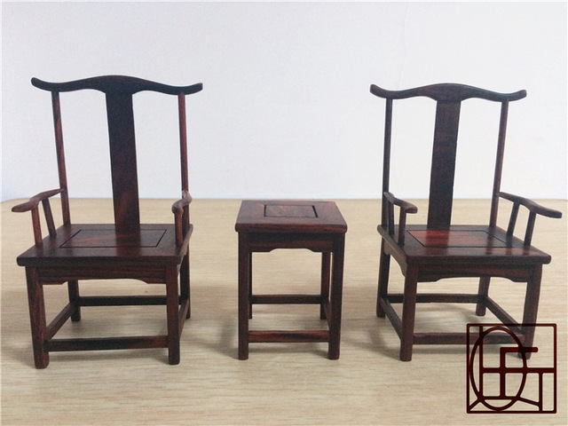 {} Hongfu miniature furniture ornaments jewelry crafts mahogany chair antique  rosewood chairs - Hongfu Miniature Furniture Ornaments Jewelry Crafts Mahogany Chair