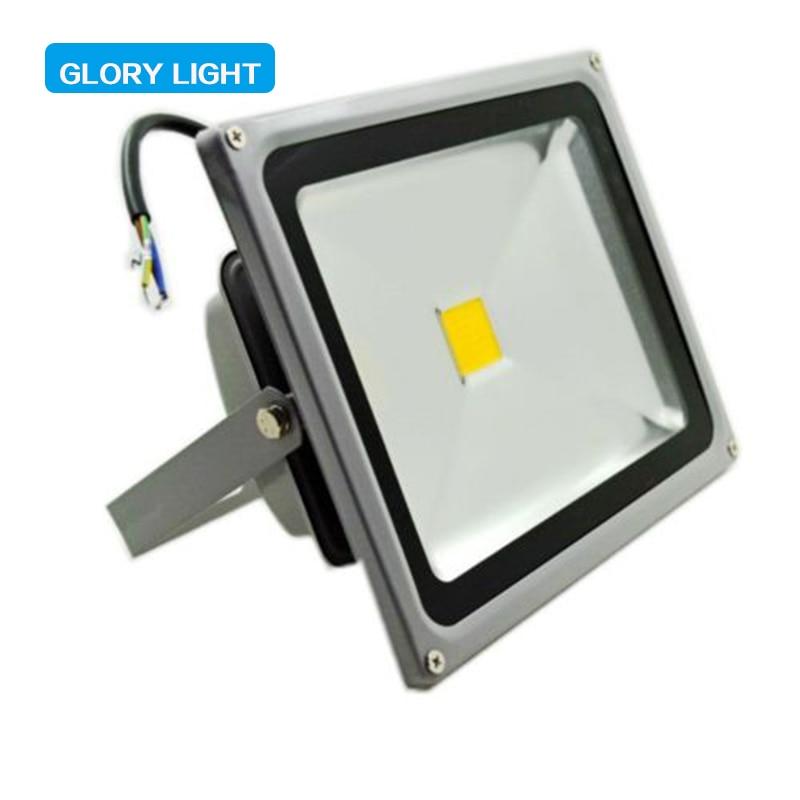 ФОТО 50W 85-265V LED Flood Light Garden Outdoor IP65 Waterproof Lamp warm&cold white square Stadium Villa spotlight led lighting