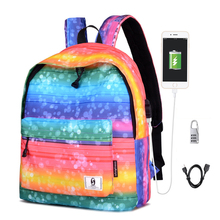цена Senkey &Style New USB Woman's Backpack Campus Outdoor School Bags Student Female Rucksack Middle School Students Travel Backbag онлайн в 2017 году
