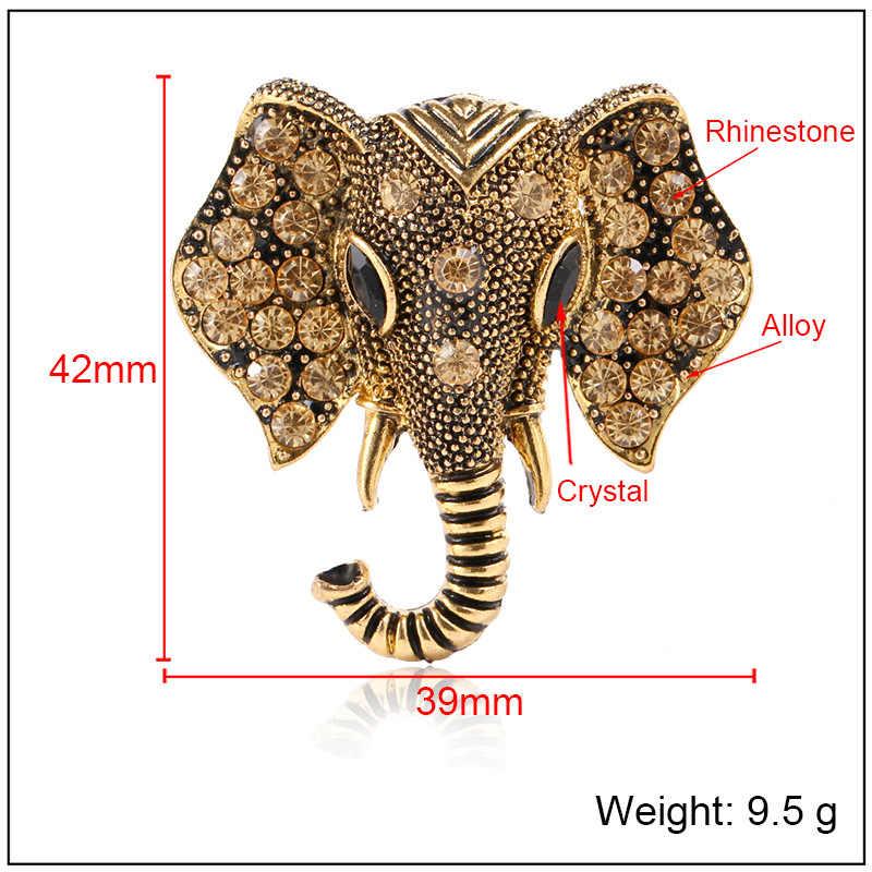 Eropa dan Amerika Vintage Bros Baru Gajah Bermutu Tinggi Bros