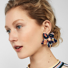 JURAN New Arrivals Charm Flower Stud Earrings For Women Multi Color Statement Earrings Hot