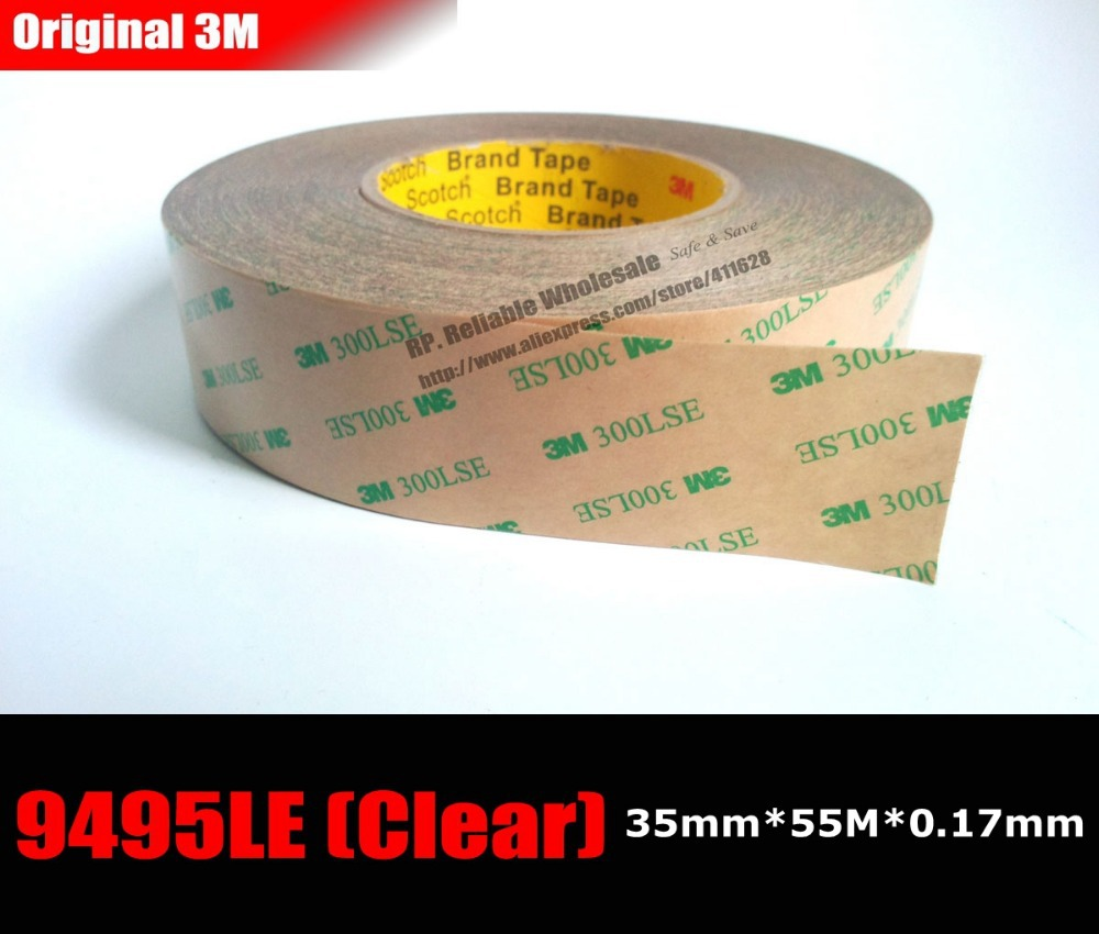 (35mm*55M*0.17mm) 3M 9495LE 300LSE 2 Sides Strong Sticky Tape for iPad Pad Samsung LCD Screen Frame Touch Panel Digitizer Joint альбом по развитию математических способностей