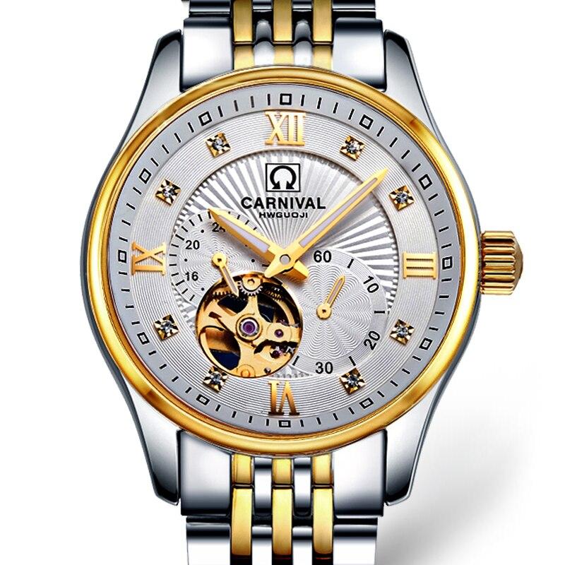 Japan MIYOTA Automatic Movement Watch Men Switzerland Carnival Brand Luxury Men Watches Sapphire hombre relogio clock C7612-1 japan miyota automatic movement watch men switzerland carnival brand luxury men watches sapphire hombre relogio clock c7612 2