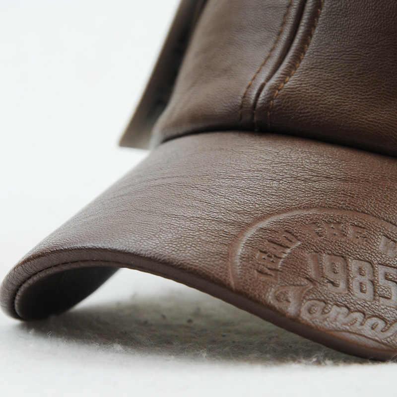 Xthree جديد الأزياء عالية الجودة خريف شتاء الرجال قبعة جلدية كاب عارضة moto snapback قبعة الرجال قبعة بيسبول بالجملة