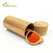 Fashion Original Round Natural Bamboo Sunglasses Case Natural Wood Sun Glasses Box Spectacle Handmade Eyeglasses Case 1Pcs/Lot