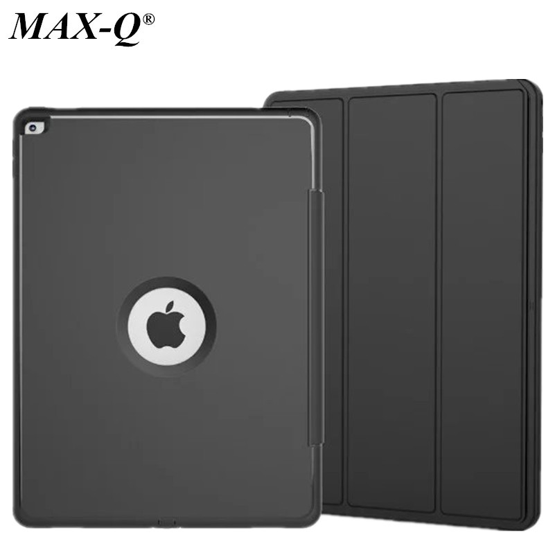 MAX-Q For Apple iPad Pro 12.9 Retina Kids Safe Armor Shockproof Heavy Duty PU+TPU+PC Hard Case Cover free shipping for amazon 2017 new kindle fire hd 8 armor shockproof hybrid heavy duty protective stand cover case for kindle fire hd8 2017