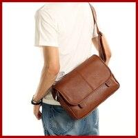 New Arrival Factory Direct Offer Genuine Leather Bag Men Messenger Bags Vintage School Shoulder Bag Fashion