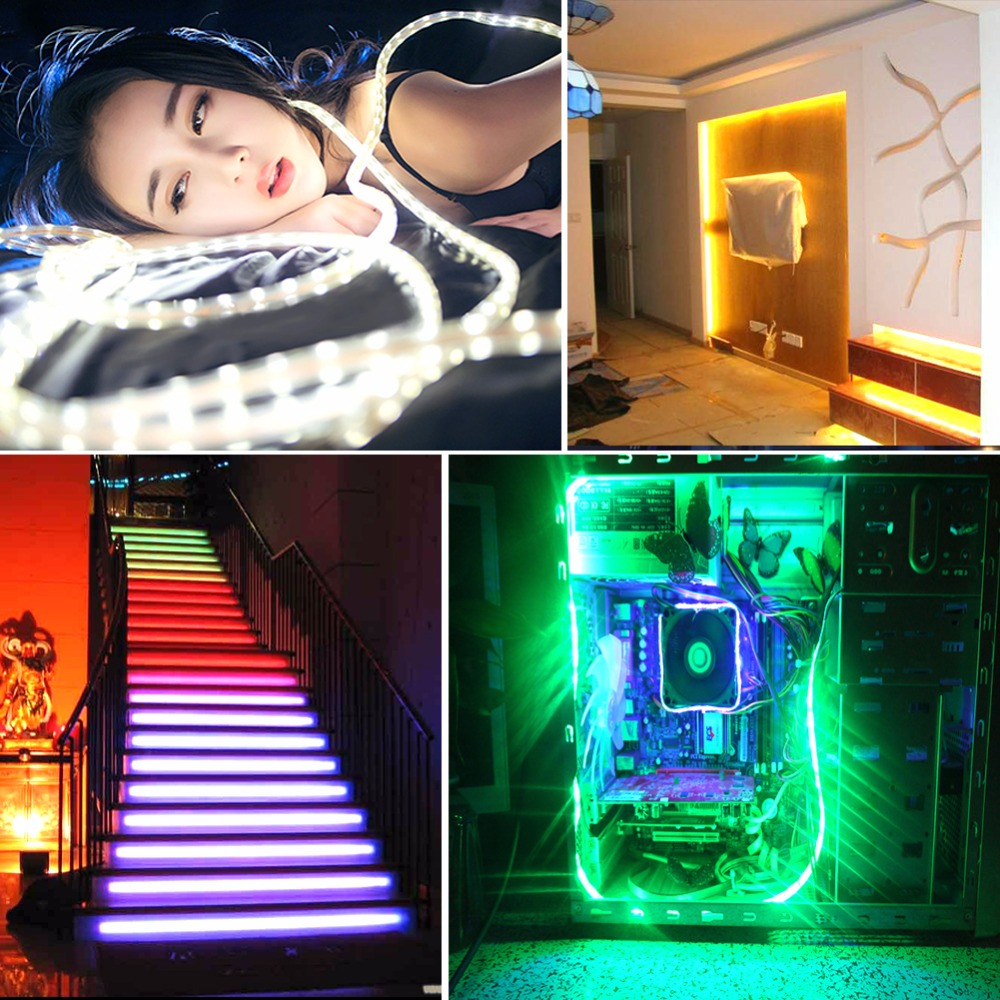 5 В USB RGB Светодиодные ленты света 2835 60 светодиодный s/m светодиодный диода лента свет HDTV Настольный ПК фонового освещения 3 17 24 ключевых контро...