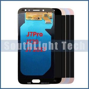 Класс AAA + + + для Samsung Galaxy J7 2017 j730 SM-J730F J730M J7 Pro Super AMOLED ЖК-дисплей кодирующий преобразователь сенсорного экрана в сборе