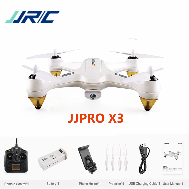 JJRC JJPRO X3 HAX Brushless Double GPS WIFI FPV w/ 1080P HD Camera Drone RC Quadcopter RTF VS Hubsan H501S X4 H502E Eachine EX1 newest diy mini drone jjrc jjpro t2 85mm fpv racing drone arf with 5 8g 40ch 800tvl naze32 brushed fc md8520 motor multicopter