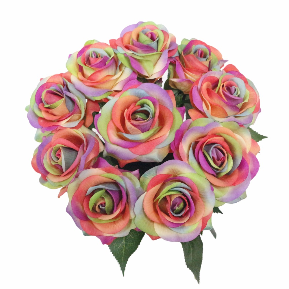 JAROWN Artificial Real Touch Hand Feel Rose Latex Flowers For Valentine`s Day Preparation Wedding Decoration Home Decor (4)