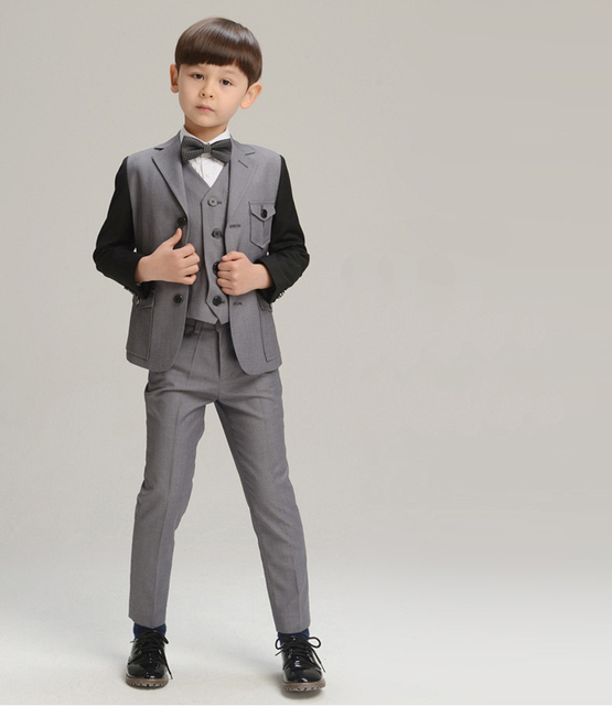 Aliexpress.com : Buy Gray Boys suits for weddings Kids Prom Suits ...