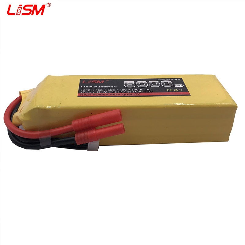14.8V <font><b>5000mAh</b></font> 60C-120C <font><b>4S</b></font> Lipo High Power Battery RC Battey Pack with Plug Connector for RC Airplane Helicopter Car/Truc #25y78 image