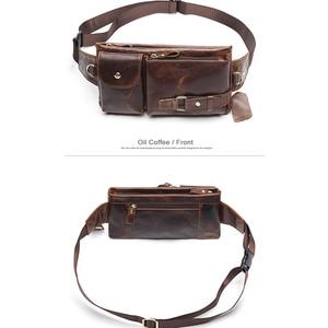 Image 4 - MVA riñonera informal de cuero genuino para hombre, bolso para la cintura, para dinero y teléfono, 9080