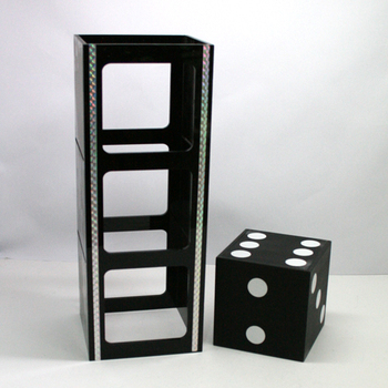 Ultra Dice Penetration Magic Tricks Stage Gimmick Prop Illusion Amazing Block VISIBLY Penetrate Steel Magia Classic Toys