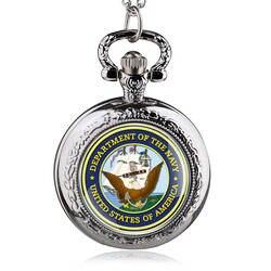 Ретро Бронзовый США темно кварцевые карманные часы винтажные армии Военная Униформа часы с цепочкой подарки для мужчин женщин